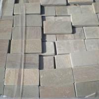 Камень Песчаник серо-зелёный пиленый + галтованый натуральный природный обработанный