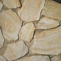 Камень природный натуральный Песчаник Бело-жёлтый с разводами