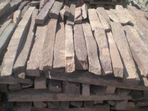 Камень натуральный обработанный пиленный Лапша красная купить у ИП Шеверев А.С.