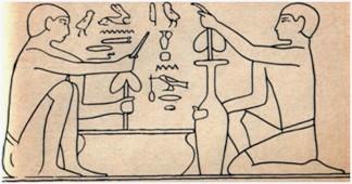 в Древнем Египте не только умели сверлить различные отверстия, но и бурили мелкие шпуры